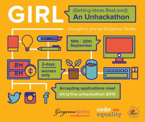 GIRL Unhackathon 2014 poster